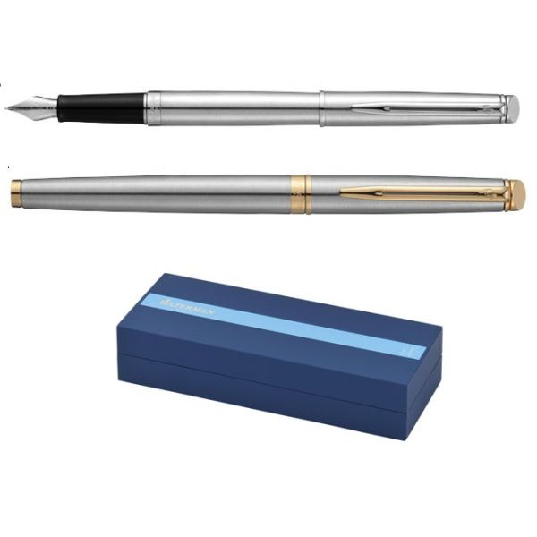 Waterman Hemisphere Steel CT en GT vulpen